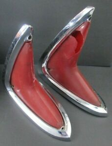 1960 Chrysler Tail Lights Bezels New Yorker Windsor Saratoga Town