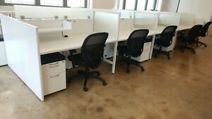 Used Office Cubicles Used Ais Matrix 6x2 5 Cubicles
