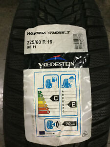 4 New 225 60 16 Vredestein Wintrac Xtreme S Snow Tires