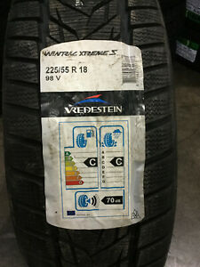 2 New 225 55 18 Vredestein Wintrac Xtreme S Snow Tires