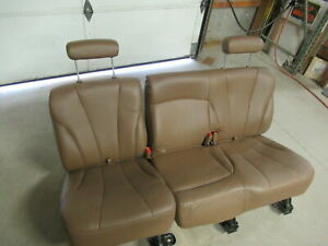 95 99 Chevy Suburban Brown Leather 2nd Row Rear Bench Seat