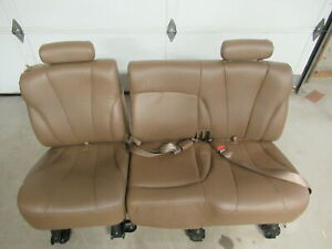 95 99 Chevy Tahoe Brown Leather 2nd Row Rear Bench Seat