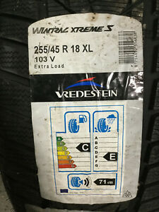 4 New 255 45 18 Vredestein Wintrac Xtreme S Snow Tires