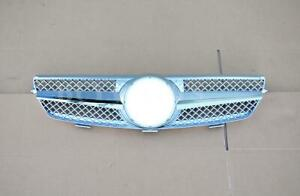 Silver Chrome Abs Front Grille Fits 2003 2009 Mercedes benz W209 Clk350 Clk550