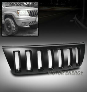 For 99 04 Jeep Grand Cherokee Sport 4dr Front Hood Upper Black Abs Grille