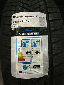 4 New 225 50 17 98v Vredestein Wintrac Xtreme S Snow Tires