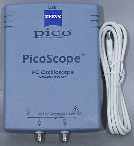 Pico Technology Picoscope 2202 20 Ms s 2 Mhz 2 channel Pc Usb 2 0 Oscilloscope