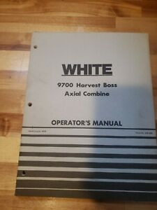 Oliver White Tractor 9700 Harvest Boss Combine Operator s Manual