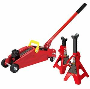 Floor Jack Stand Combo 2 Ton Car Suv Minivan Truck Shop Lift Hydraulic Trolley