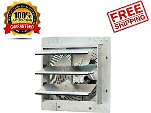 Shutter Exhaust Fan 10 In Automatic Explosion Proof Garage Cool Air Blades New