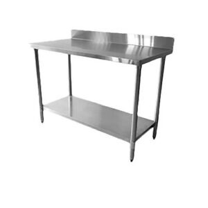 Thunder Group 30 X 96 X 35 430 Stainless Steel Flat Top Work Table