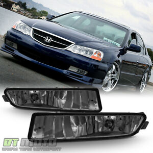 Smoked 2002 2003 Acura Tl Bumper Driving Fog Lights bulbs Replacement Left right