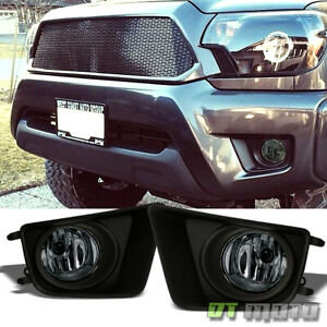 For Smoke 2012 2015 Toyota Tacoma Pickup Bumper Fog Lights W switch Left right
