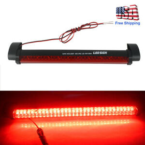 New 32 Led 12v Universal Car High Mount Third 3rd Brake Stop Tail Light Bar Red