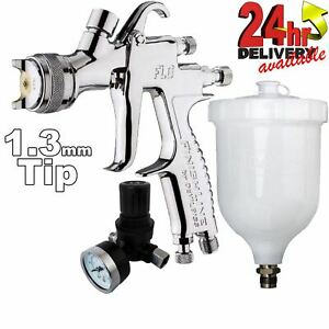 Devilbiss Flg g5 1 3mm Paint Spray Gun With Air Pressure Regulator