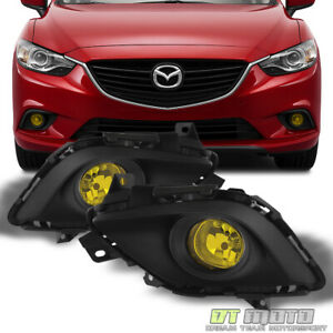 2014 2016 Mazda 6 Glass Lens Yellow Bumper Fog Lights Lamp W Switch Left Right