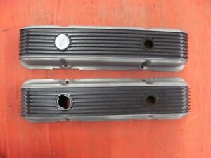 Cal Custom Finned Aluminum Valve Covers 327 Gasser Gardena 40 2300 350 Pair