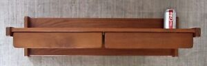 Danish Modern Teak Aksel Kjersgaard Odder Desk Table Wall Shelf Console Drawers