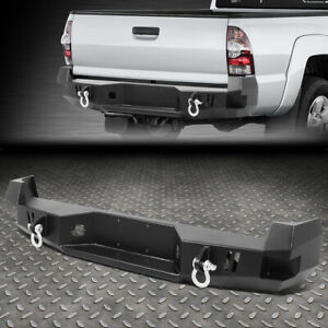 For 05 15 Toyota Tacoma Rear Heavy Duty Steel Step Bumper Face Bar W d rings