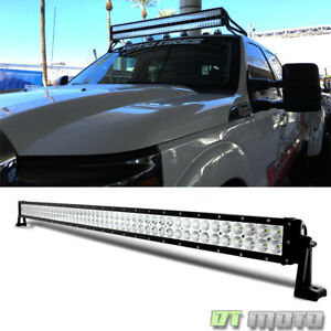 52 300w Led Light Bar Flood spot Combo Work Lamp Offroad Boat Truck Suv Atv 4wd