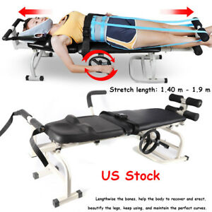 Therapy Massage Table Cervical Spine Lumbar Stretching Tool Bones Traction Bed