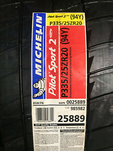 1 New 335 25 20 Michelin Pilot Sport 2 Zp Run Flat Tire