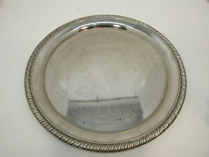 Vintage Hong Kong Silver Plated 12 Serving Tray Round