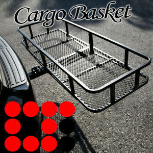 Universal Car Rear Trailer Hitch Mount Cargo Rack Luggage Carrier Folding Basket