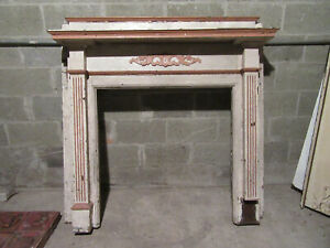 Ornate Antique Oak Fireplace Mantel 54 X 54 Architectural Salvage