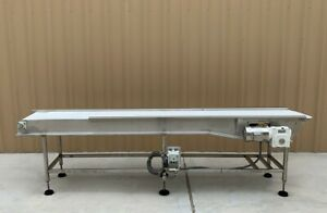 18 X 11 Long Stainless Food Conveyor With Speed Controller