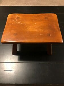 Vintage Cushman Colonial Creation Wooden Stool 9038 Bennington Vermont