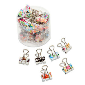 Colored Binder Clips 40 pack Paper Clamps Binder Clips Bulk For Office Work