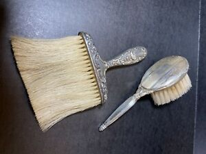 Antique Victorian Sterling Silver Art Nouveau Table Crumb Baby Brush Engraved
