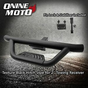 Fit 2 Tow Trailer Receiver Texture Black Hitch Step With Pin Lock Stabilizer