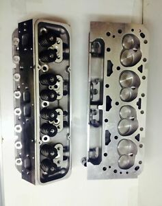 Small Block Chevy Loaded V 8 Cylinder Heads Sbc 350 327 200cc Straight Plugs Set