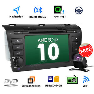 Cam Android 9 0 4 Core 7 Car Stereo Dvd Gps Navigation For Mazda 3 04 09 Bk L