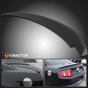 For 2010 2014 Ford Mustang Factory Gt Style Rear Trunk Spoiler Wing Matte Black