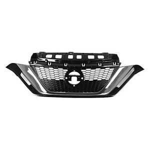 Ni1200290c New Replacement Front Grille Fits 2017 2019 Nissan Versa Note