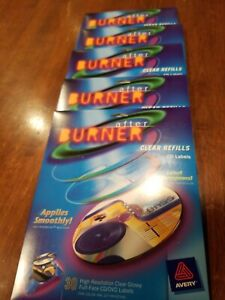 Avery 150 High Resolution Clear Refills Cd dvd Labels After Burner Refill New