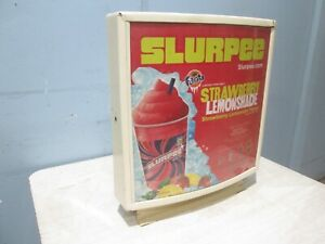 Commercial 21 h X 19 w X 7 d Base Mount Lighted slurpee Merchandising Sign