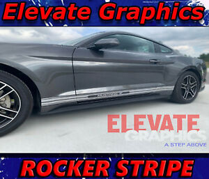 For Ford Mustang Rocker Side Stripes Vinyl Graphics 3m Decals Stickers 2005 2020