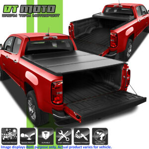 Hard Tri Fold Tonneau Cover For 2015 2019 Chevy Colorado Gmc Canyon 5ft 60 Bed