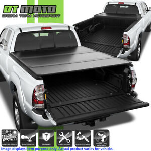 Hard Tri fold Tonneau Cover For 2005 2015 Toyota Tacoma Double Cab 6ft 72 Bed