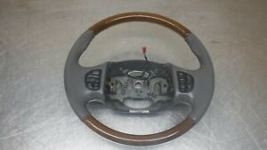 Ford Excursion F250 F350 Superduty Grey Gray Leather Wood Steering Wheel F 250