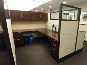 Used Office Cubicles Knoll Reff 6x8 Cubicles