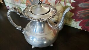 Ascot Sheffield Design Teapot Silverplate By Community Vintage