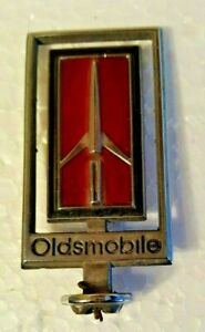 1979 Oldsmobile 98 Regency Delta 88 Royale Hood Ornament Emblem Red