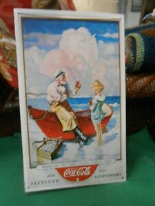 Great Collectible Tin Sign-COCA COLA 50th Anniversary 1886-1936