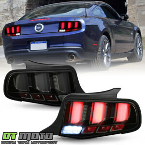 2010 2012 Ford Mustang Smoked Led Tube Sequential Signal Tail Lights Brake Lamps