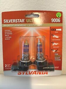 Sylvania Silverstar Ultra 9006 Pair Set Halogen Headlight